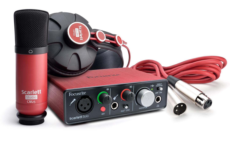 Scarlett Solo Studio Pack - Focusrite Scarlett Solo Studio Pack -  Audiofanzine
