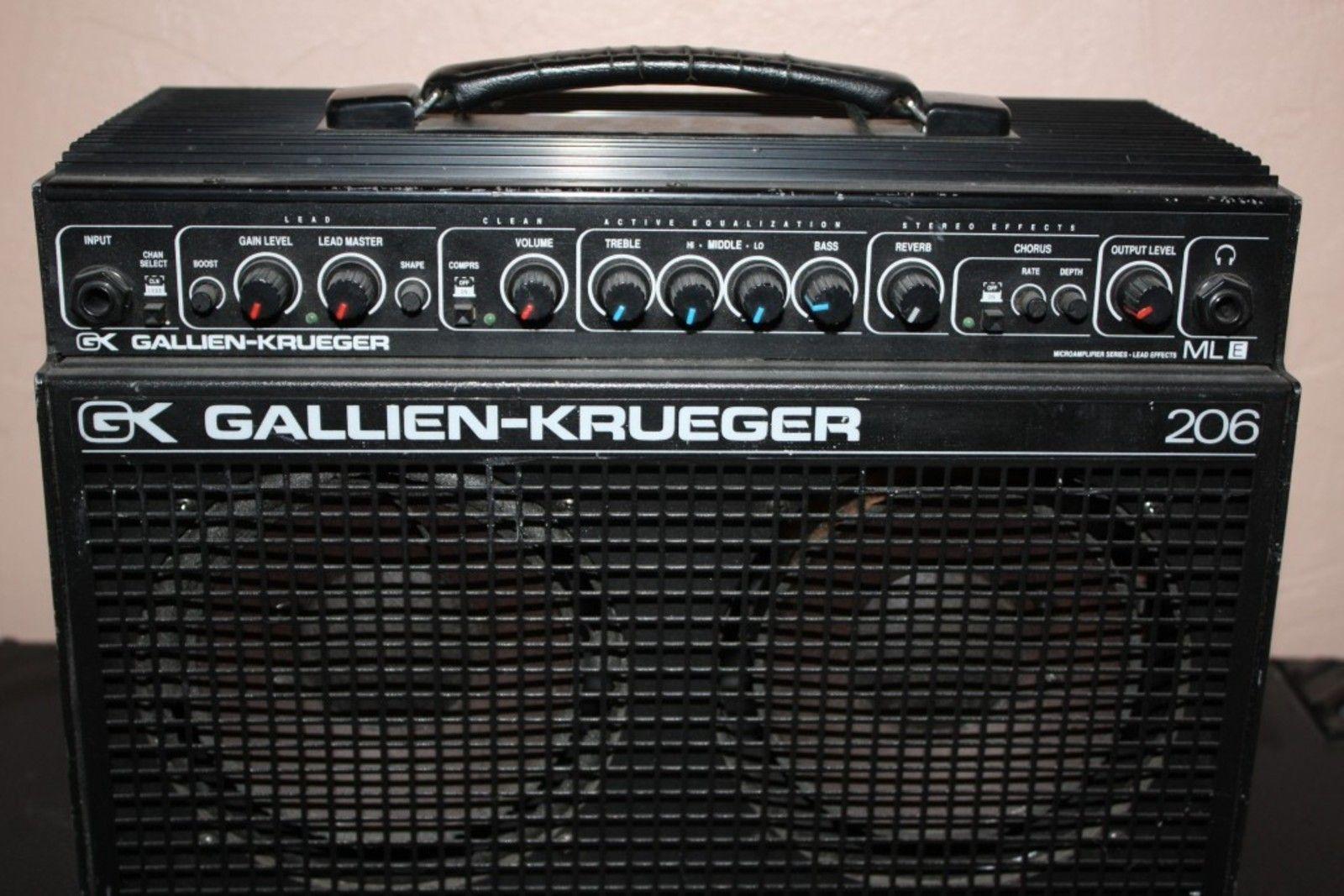 Gallien Krueger Guitar Amp : small but powerful reviews gallien krueger 206mle audiofanzine ~ Vivirlamusica.com Haus und Dekorationen
