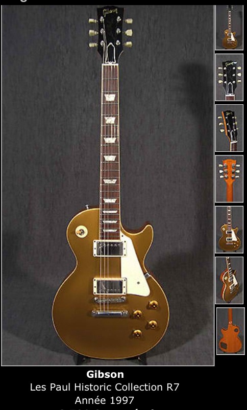 les paul gold top custom shop r7 gibson audiofanzine. Black Bedroom Furniture Sets. Home Design Ideas