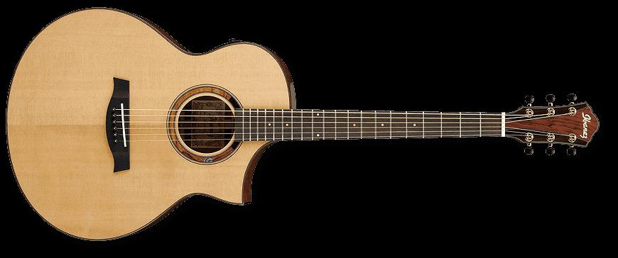 guitares electro acoustiques ibanez aew120bg-nt natural folk electro