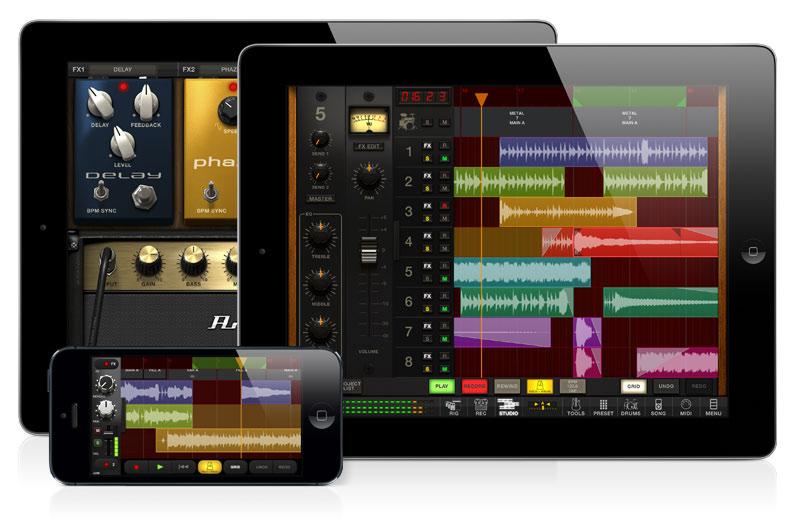 Amplitube 3 on ios features a daw news audiofanzine for Salon multimedia