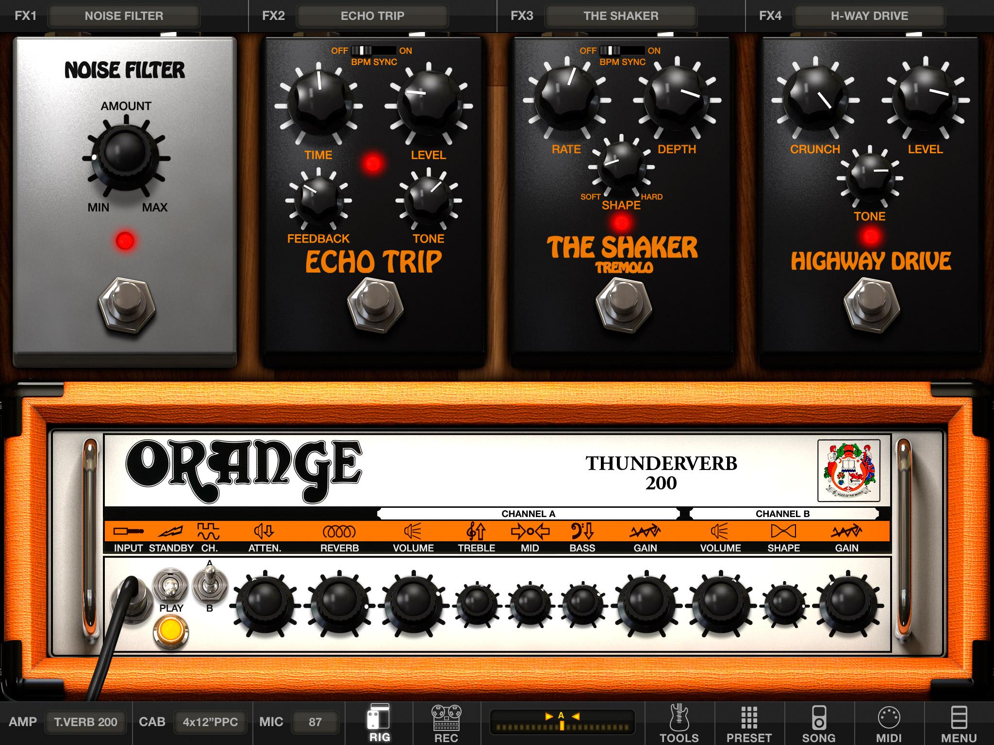 ik multimedia amplitube orange now on ios news audiofanzine rh en audiofanzine com iPad Mini User Manual Basic iPad Users Manual