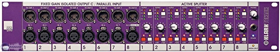 Klark Teknik Square One Splitter Operator Manual Audio For Video