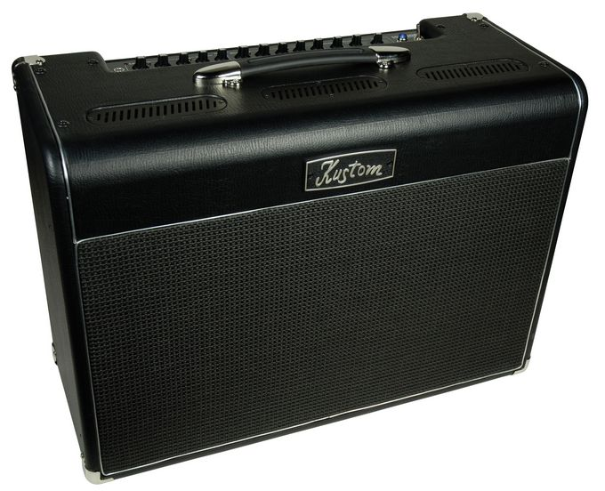 kustom hv 100 high voltage series hybrid tube 100 watt guitar amp head audiofanzine. Black Bedroom Furniture Sets. Home Design Ideas