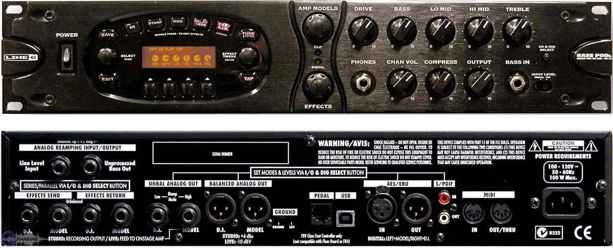 Line 6 Bass Pod Xt Pro Image 420788 Audiofanzine