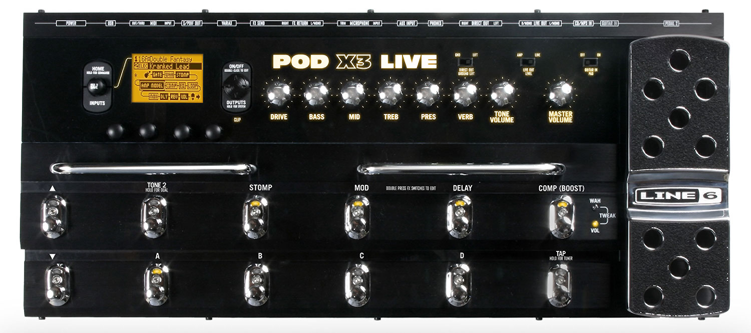 pictures and images line 6 pod x3 live audiofanzine