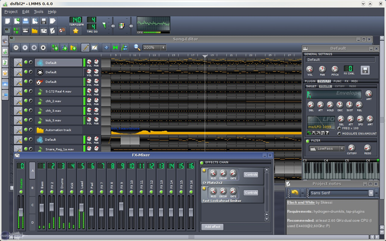 Avis Dutilisateurs Lmms Linux Multimedia Studio Freeware