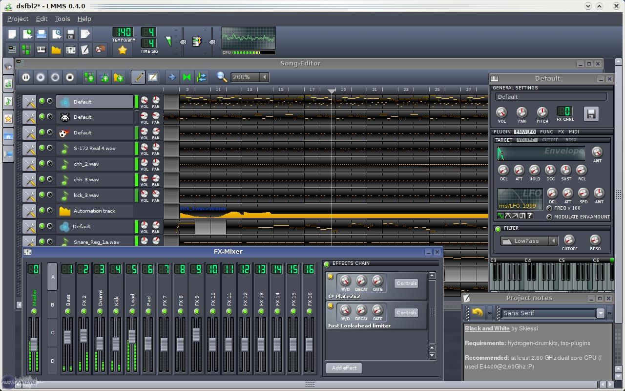 Linux Multimedia Studio Freeware Lmms Audiofanzine