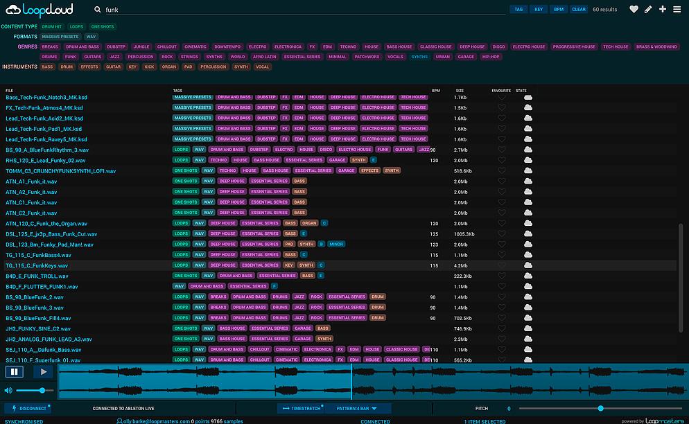 LOOPCLOUD - Loopmasters LoopCloud - Audiofanzine
