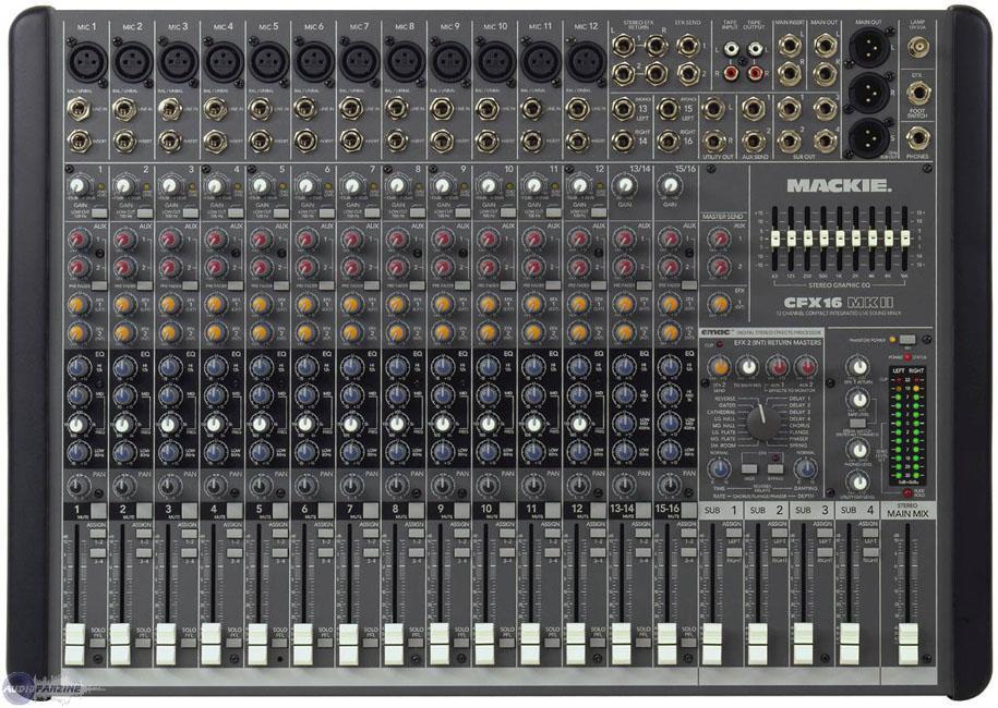 vends table de mixage mackie cfx16mkii (midi-pyrénées) - audiofanzine