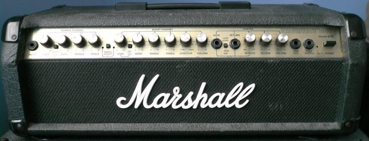 photo marshall 8100 valvestate 100v marshall ampli. Black Bedroom Furniture Sets. Home Design Ideas