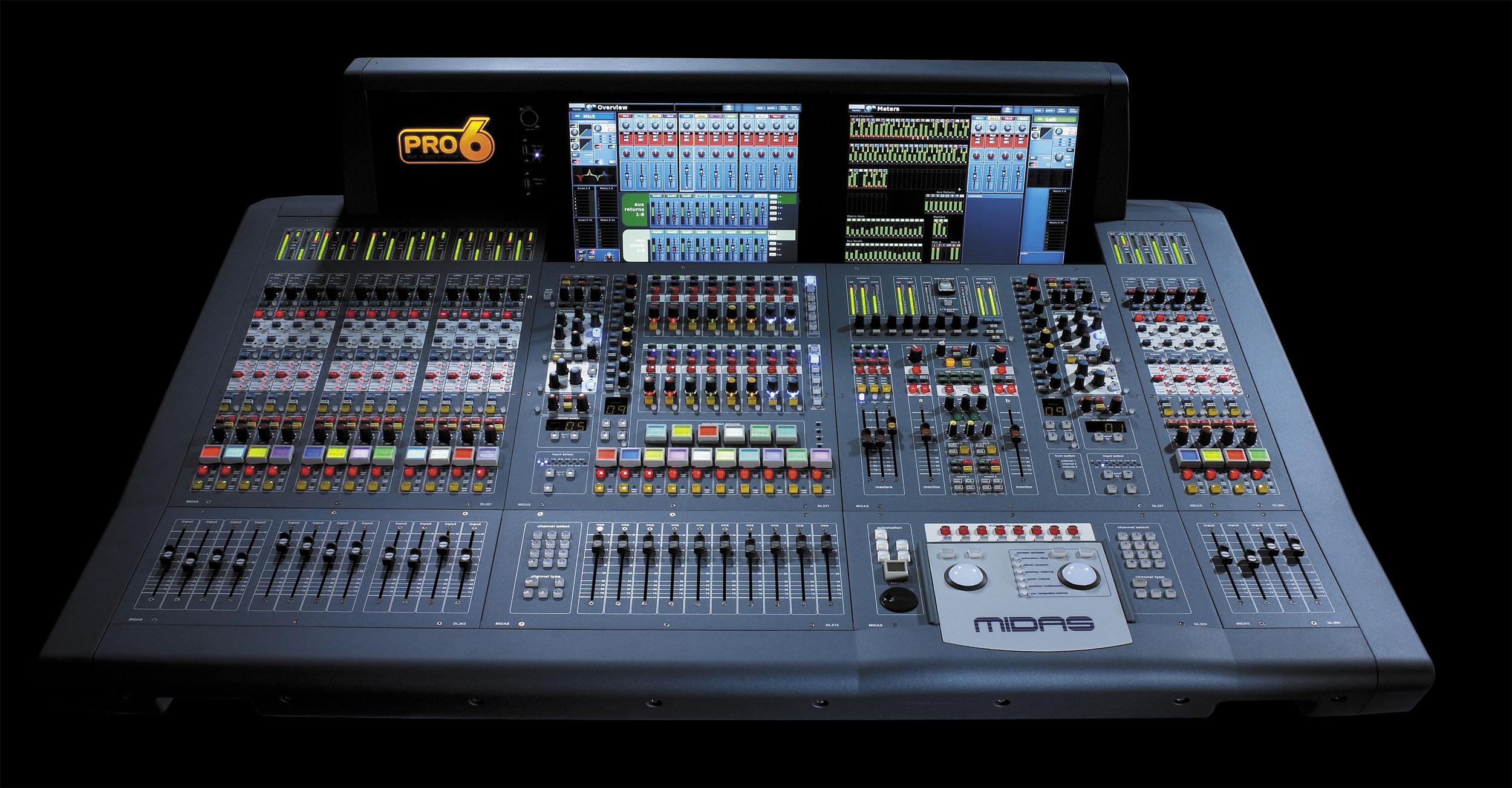 Pro6 midas pro6 audiofanzine - Console de mixage numerique ...