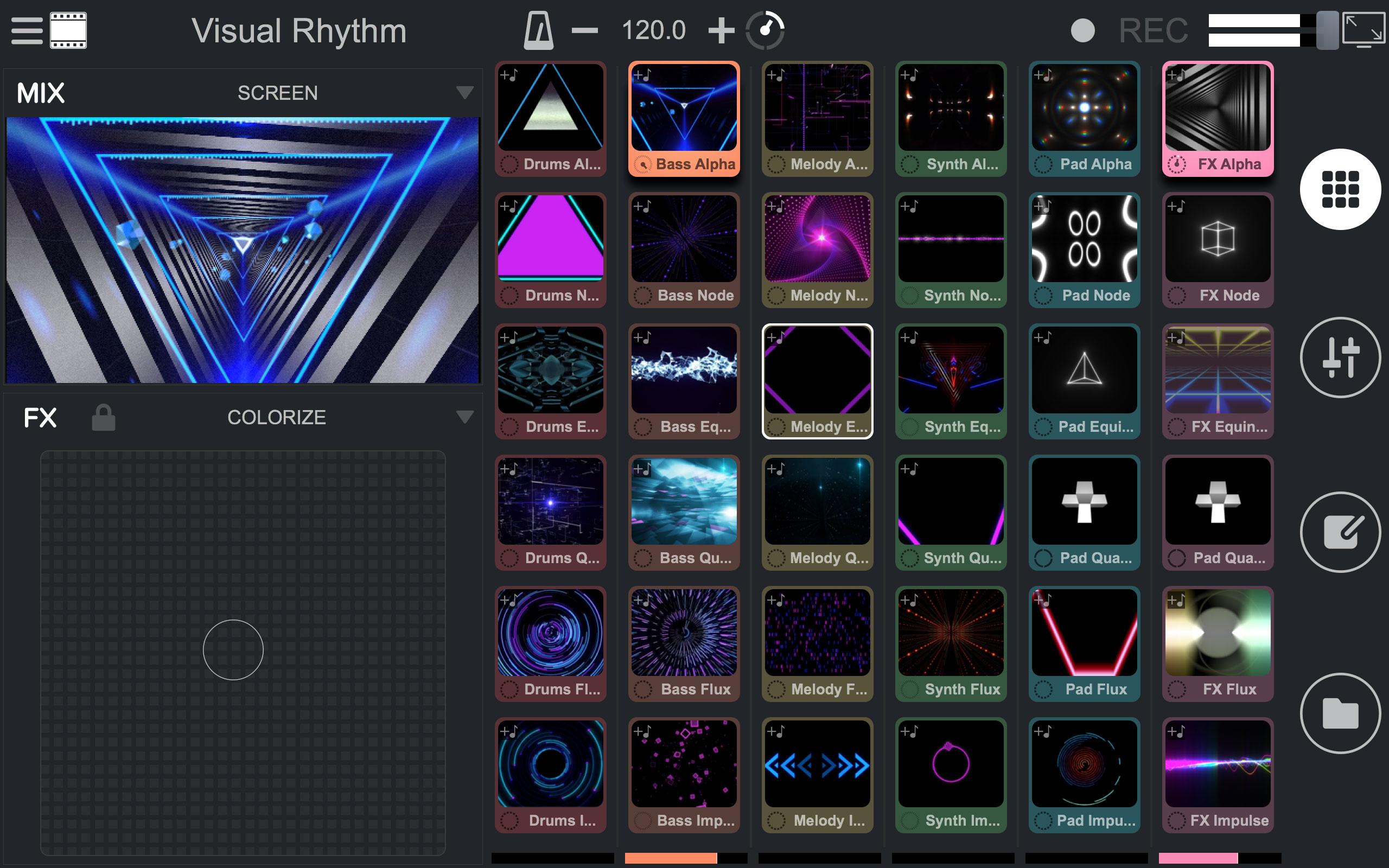 sortie du logiciel de mixage audio et vid o mixvibes remixvideo pour mac os x vjing djing. Black Bedroom Furniture Sets. Home Design Ideas