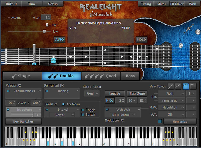 musiclab realeight 8 string guitar plug in for mac and windows with amplitube custom shop. Black Bedroom Furniture Sets. Home Design Ideas
