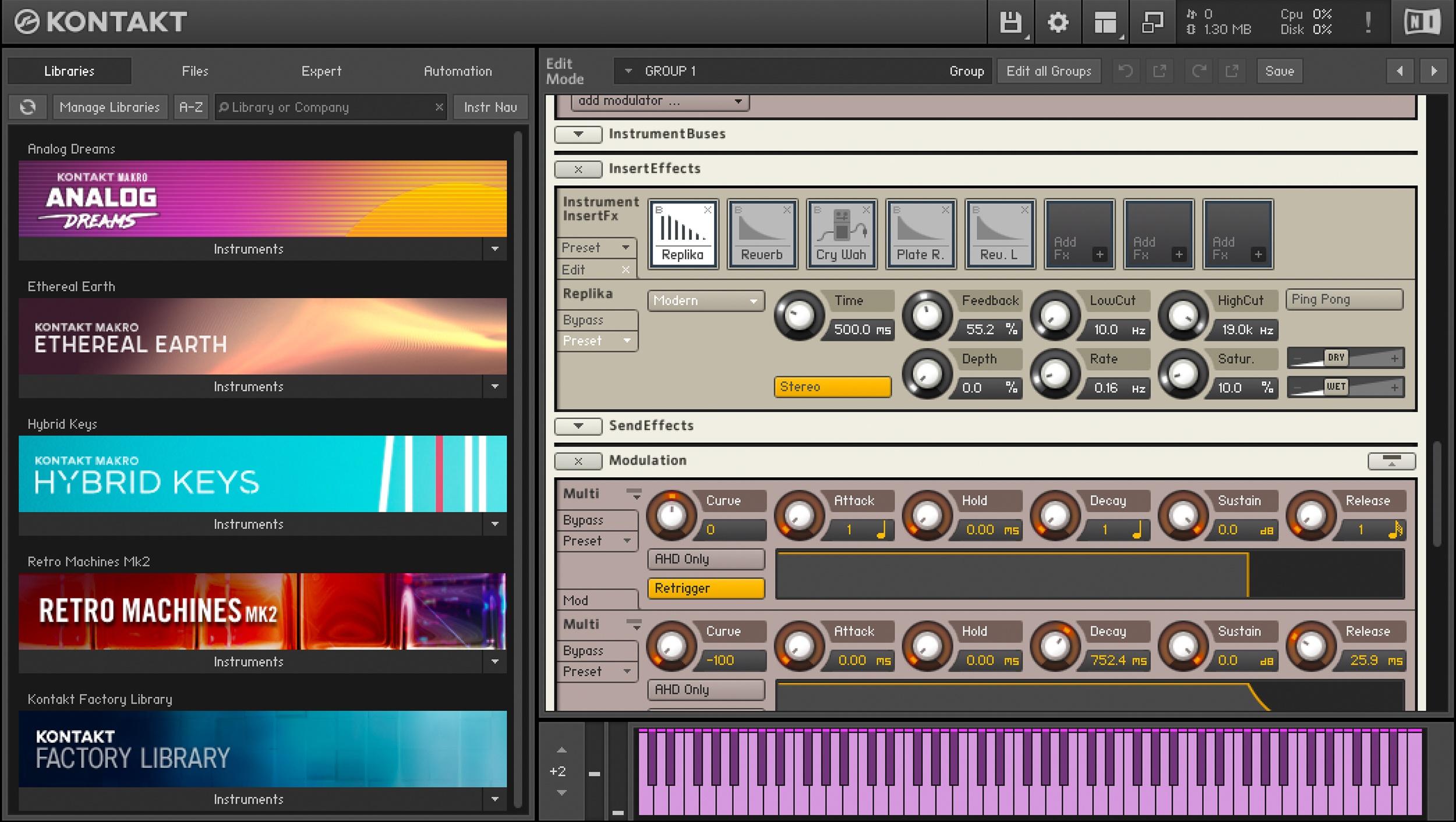 The Industry Standard in Sampler Platforms - Reviews Native Instruments  Kontakt 6 - Audiofanzine