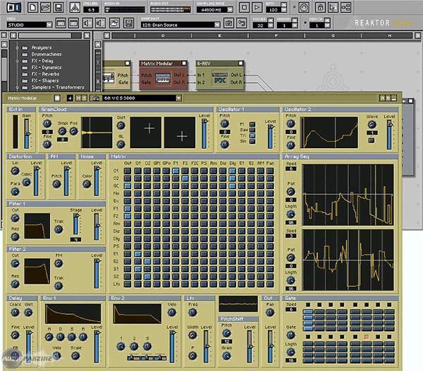 Native Instruments Reaktor Session Virtueller Modularer Synthesizer