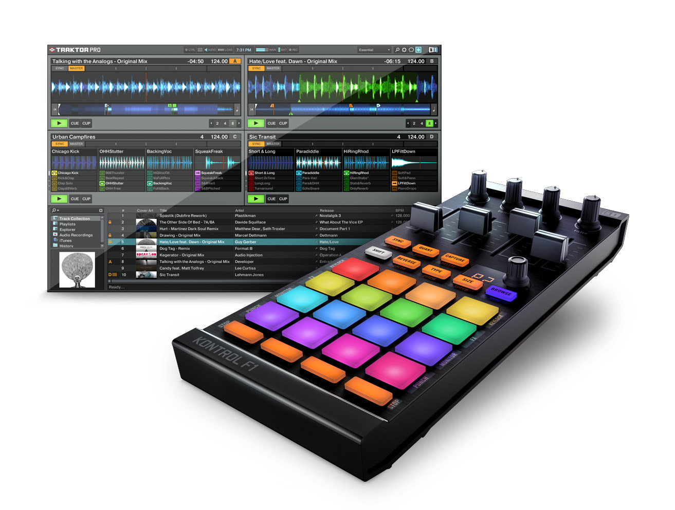 test du native instruments traktor kontrol f1 des pads. Black Bedroom Furniture Sets. Home Design Ideas