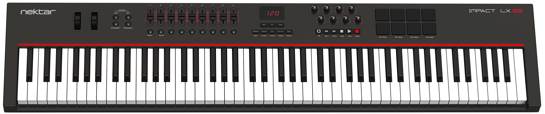 nektar technologies impact lx88 88 key midi controller keyboard with daw integration audiofanzine. Black Bedroom Furniture Sets. Home Design Ideas