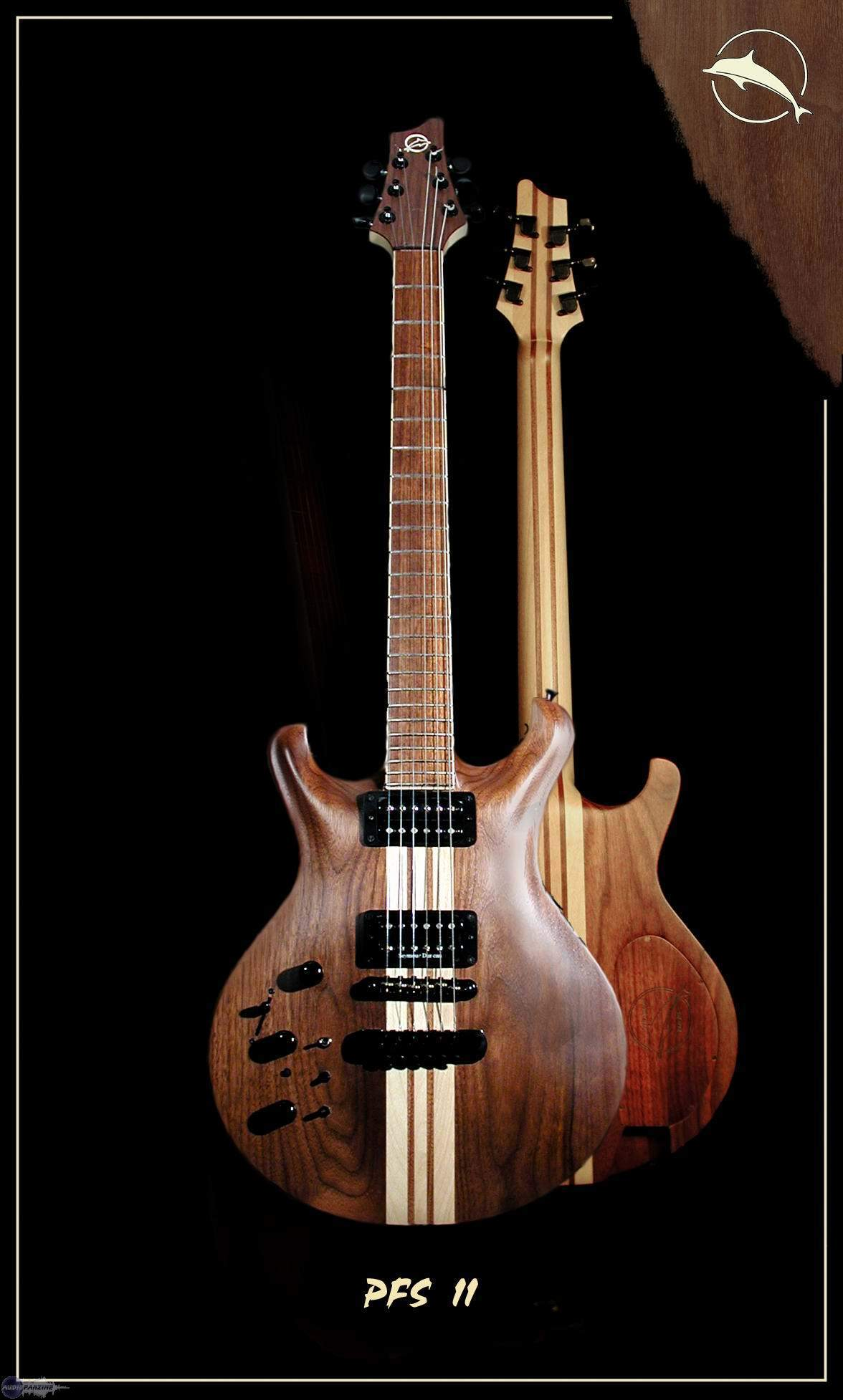 guitare electrique noyer
