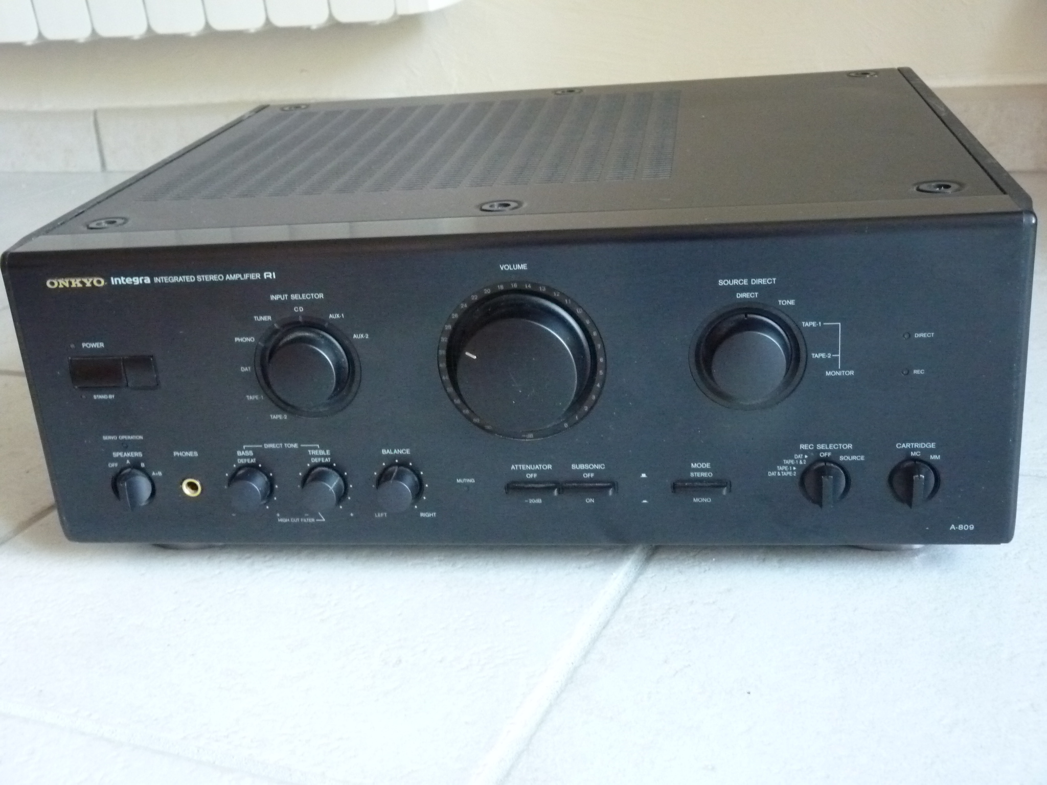 gregorysaint s review onkyo integra a 809 audiofanzine rh en audiofanzine com Onkyo 809 Receiver onkyo tx-nr809 owners manual