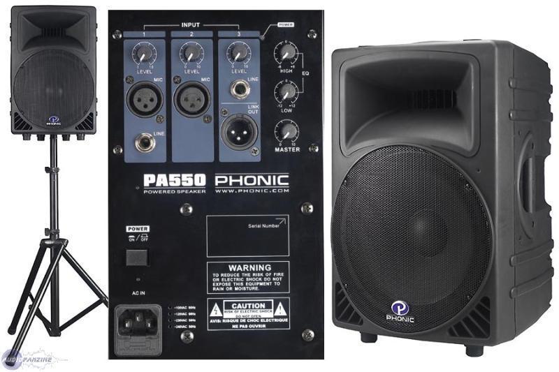 Risultati immagini per phonic pa550 caratteristiche specifiche tecniche