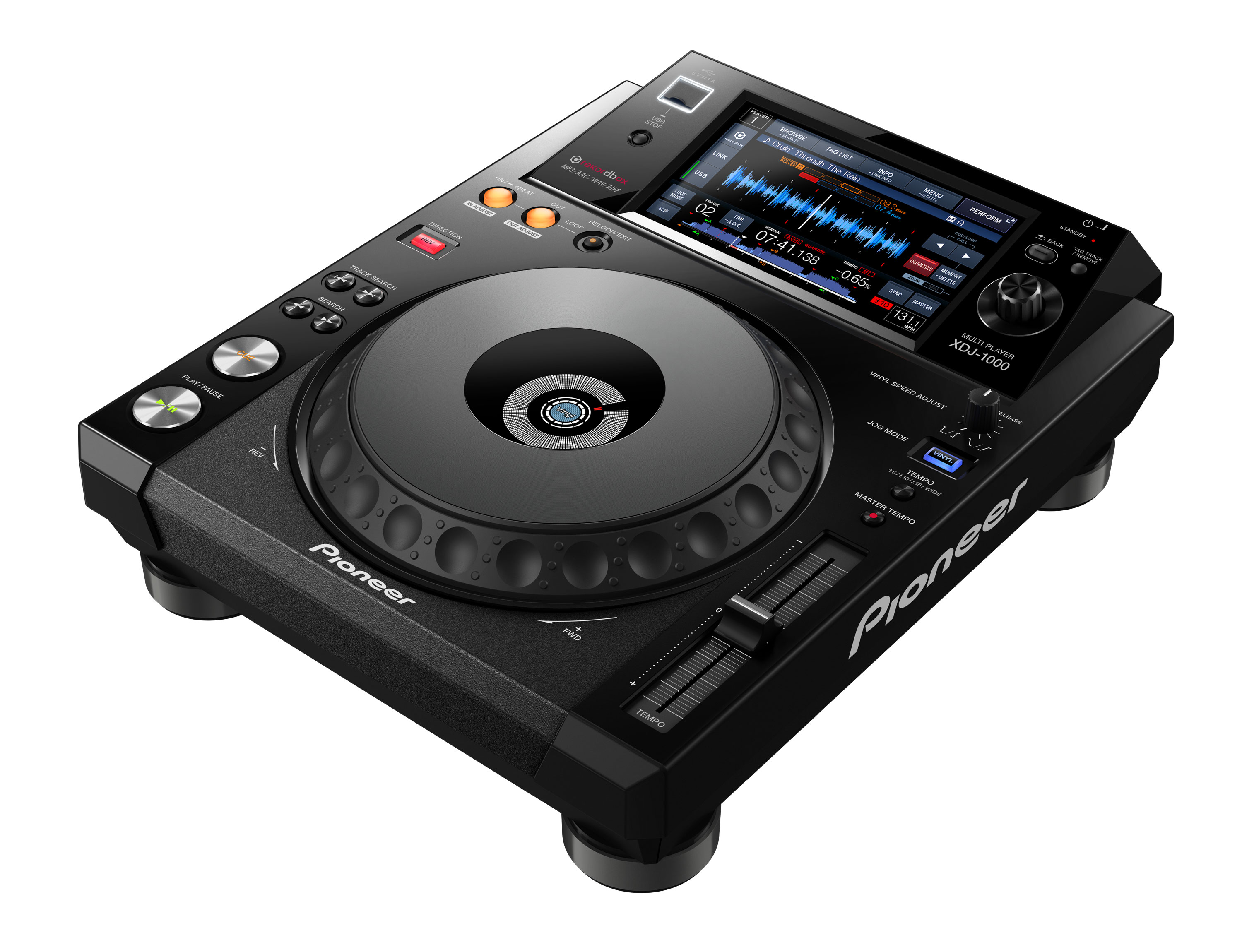 XDJ-1000 rekordbox-ready digital deck (black) - Pioneer DJ
