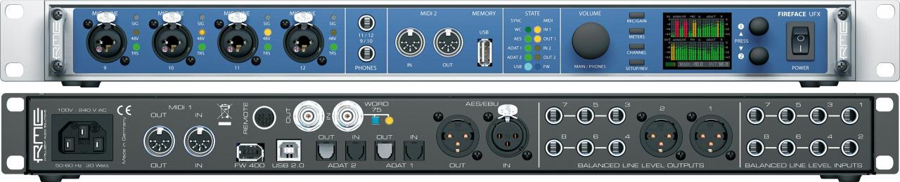 RME FireFace UFX Review : Weapon of Massive Recording - Audiofanzine