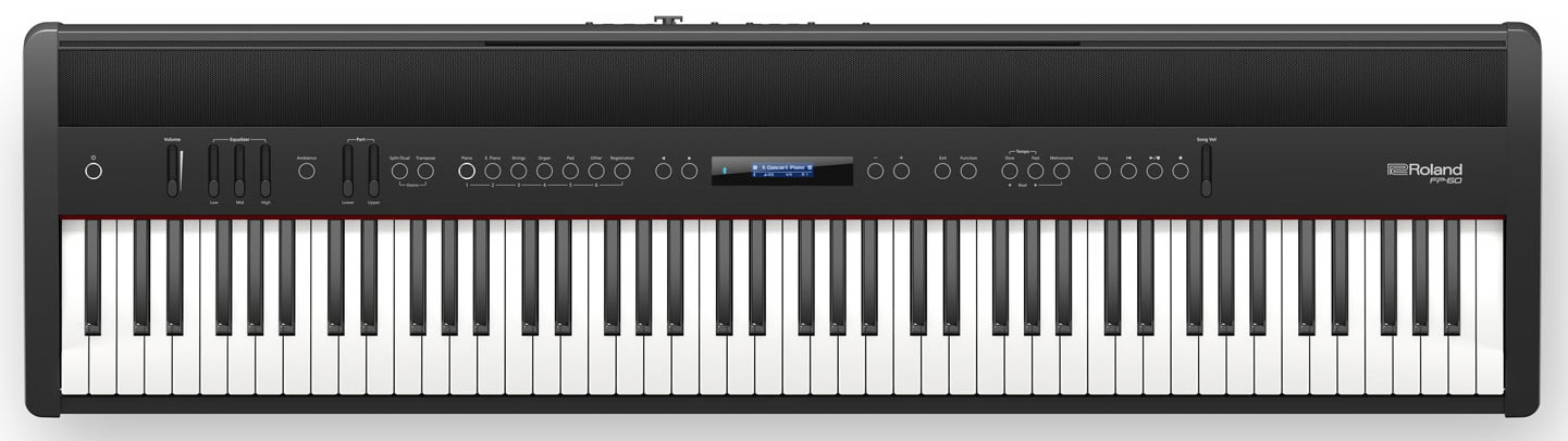 roland fp 60 video roland fp 60 digital piano no compromise piano performance for home stage. Black Bedroom Furniture Sets. Home Design Ideas