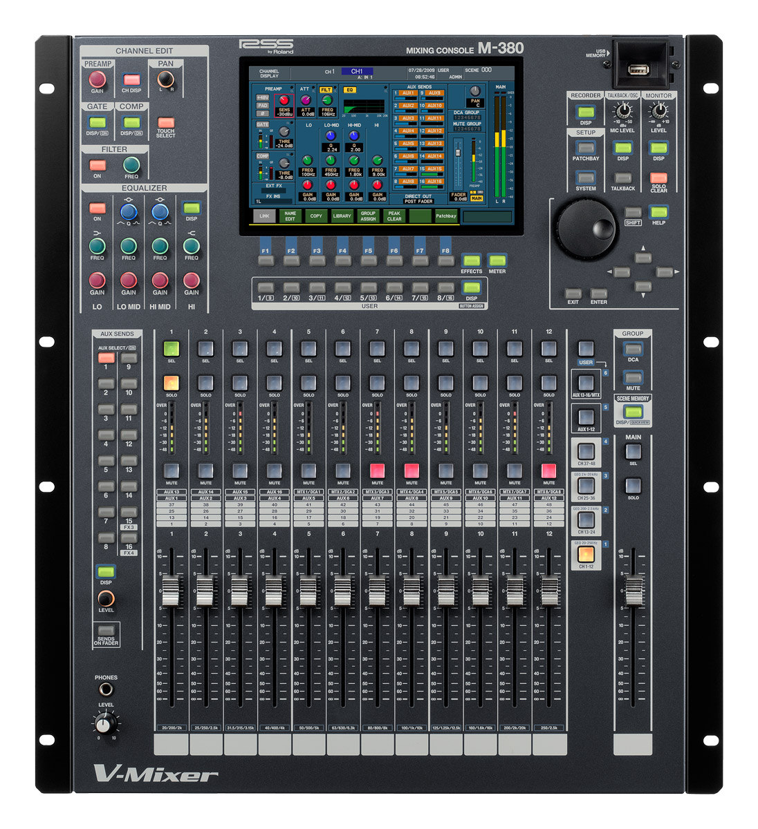 roland m 380 digital mixing console audiofanzine. Black Bedroom Furniture Sets. Home Design Ideas