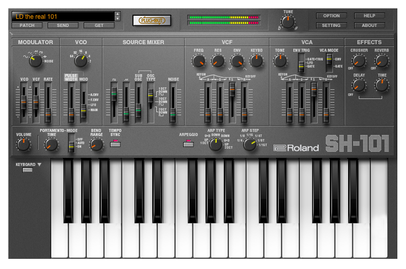 Sh 101 Plug Out Roland Sh 101 Plug Out Audiofanzine