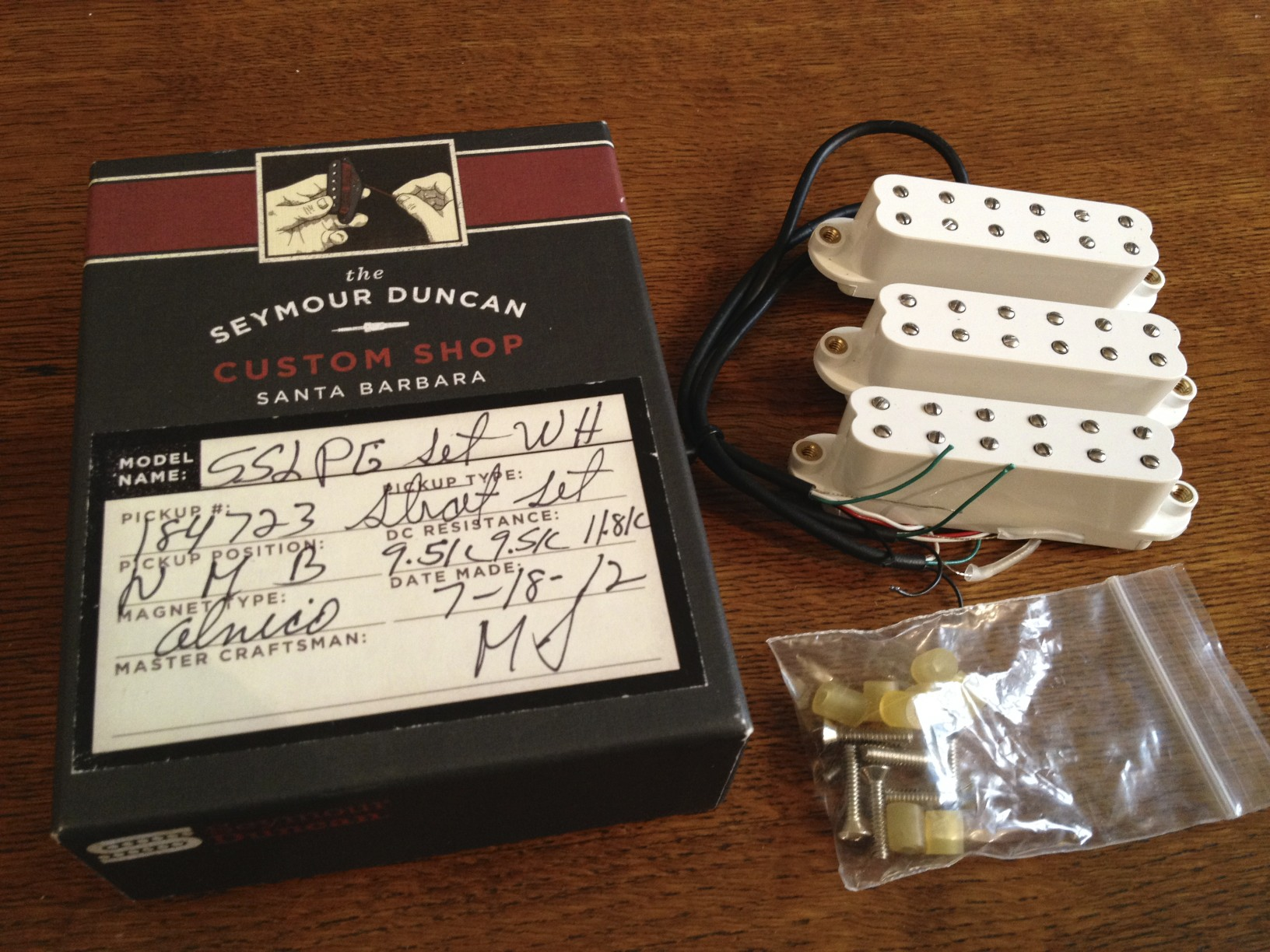 Seymour Duncan Custom Shop Pearly Gates Single-Coil-Sized ...