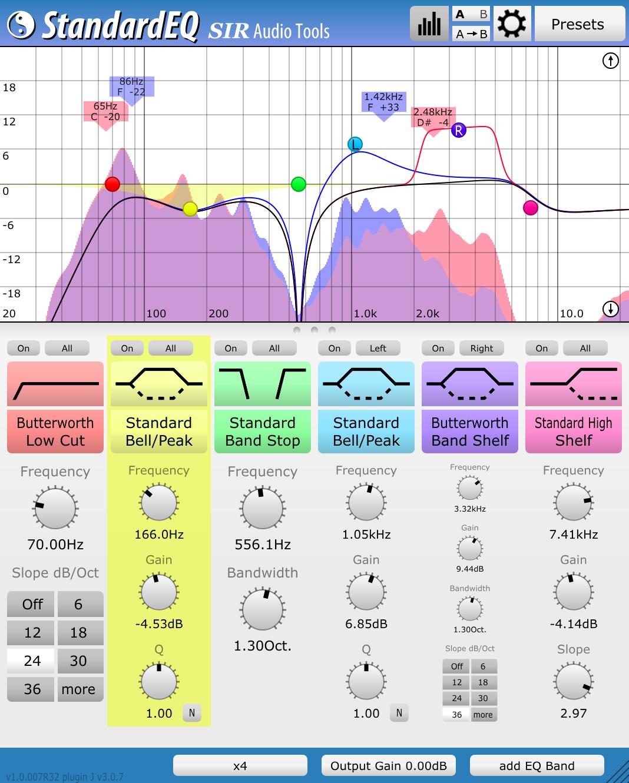 SIR Audio Tools StandardEQ en v1.3 et des promos
