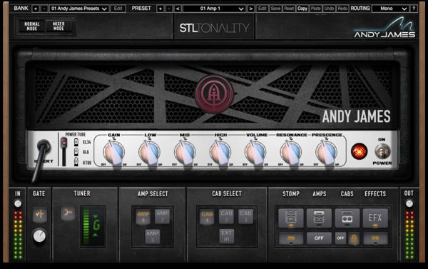 Le son d'Andy James dans le nouveau STL Tonality - Audiofanzine