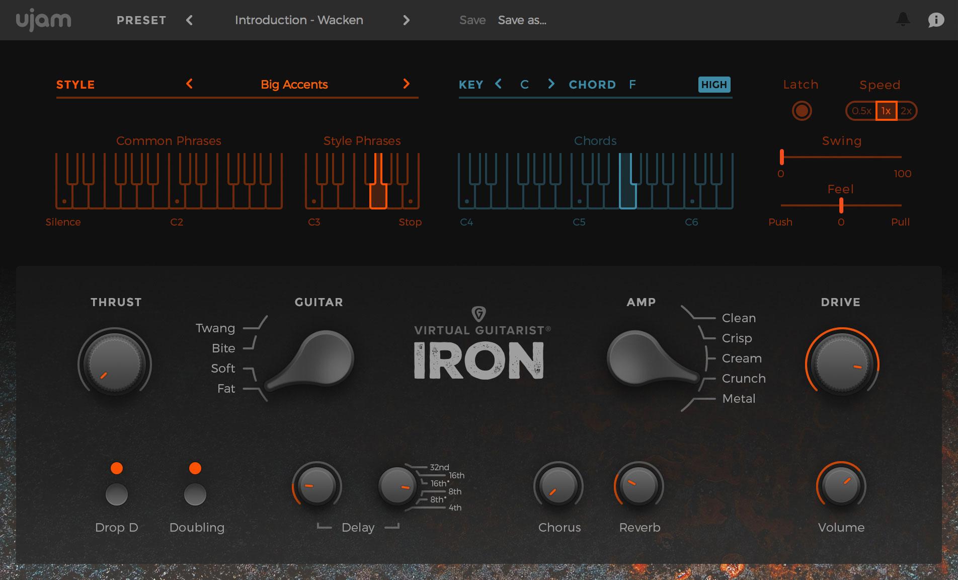 ujam virtual guitarist iron video virtual guitarist iron first look black holiday audiofanzine. Black Bedroom Furniture Sets. Home Design Ideas