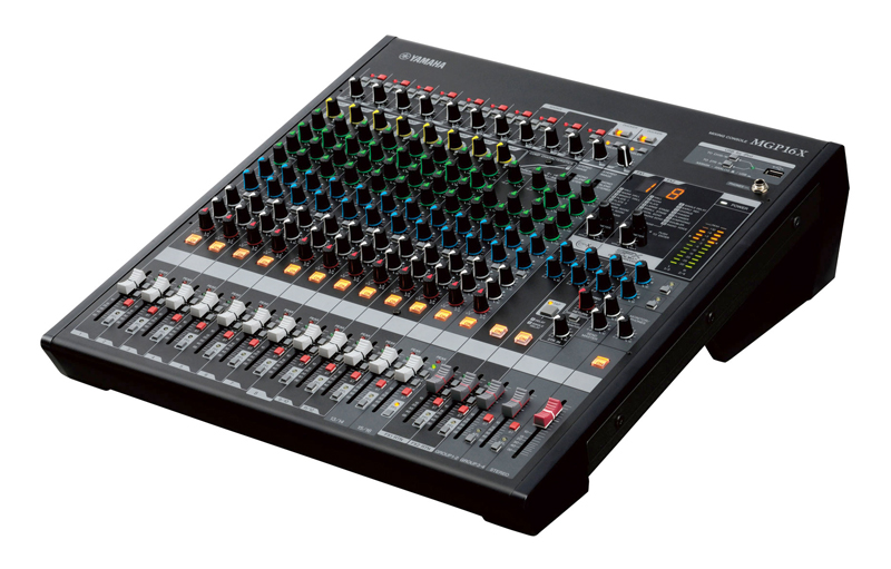 Test de la console yamaha mgp16x yamaha passe table - Table de mixage avec carte son integree ...