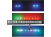 "Lot de 6 Barres à LED GHOST + FLY CASE ""sur mesures"""