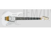 Magnifique Ibanez 7V-WH signée par Steve Vai.