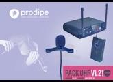 Pack Prodipe UHF VL21 pour violon/alto