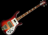 Copie asiatique de Rickenbacker rouge