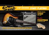 Squier Stop Dreaming, Start Playing Set: Affinity Series Strat HSS with Fender Frontman 15G