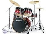 Vend Batterie TAMA Superstar Custom + cymbales Zildjian ZHT Pro + double pédale Iron Cobra,...