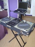 A.T.S. Flight Case pour 2 platines Technics et un mélangeur 2 voies + Support PC