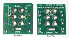 Awesome Guitars M1 Printed Circuit Board
