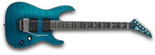 Charvel Desolation Soloist DX-1 FR - Transparent Blue Smear
