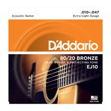 D'Addario 80/20 Bronze Wound Acoustic Guitar