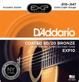 D'Addario EXP Coated 80/20 Bronze Wound Acoustic Guitar