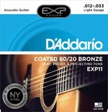 D'Addario EXP11NY COATED 80/20 BRONZE LIGHT 12/53