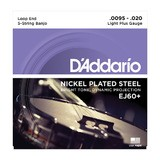 D'Addario Nickel Plated Steel Wound Banjo