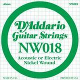 D'Addario NW018 Single XL Nickel Wound 018