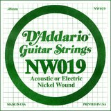 D'Addario NW019 Single XL Nickel Wound 019